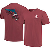 Image One Men's Florida State Seminoles Garnet Americana State T-Shirt