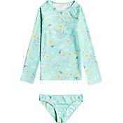Roxy Toddler Girls' Mermaid Spirit Long Sleeve Rash Guard Set