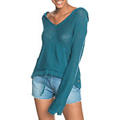 Roxy Women's Hang With You Hooded Poncho Sweater