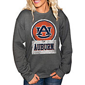 Gameday Couture Women's Auburn Tigers Charcoal 'Good Vibes' Perfect Cozy Crew Pullover Sweatshirt