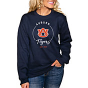 Gameday Couture Women's Auburn Tigers Blue 'For the Home Team' Perfect Cozy Crew Pullover Sweatshirt