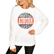 Gameday Couture Women's Auburn Tigers White Perfect Cozy Crew Pullover Sweatshirt