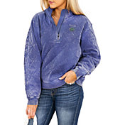 Gameday Couture Florida Gators Blue Acid Wash Quilted Quarter-Zip Pullover Sweatshirt
