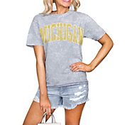 Gameday Couture Michigan Wolverines Grey Acid Wash T-Shirt