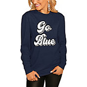 Gameday Couture Women's Michigan Wolverines Blue Script Long Sleeve T-Shirt