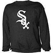 Stitches Men's Chicago White Sox Black Crew Neck Sweatshirt
