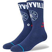 Stance Men's Chicago Cubs Navy 2021 City Connect Crew Socks