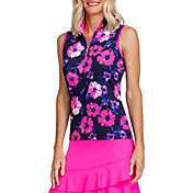 Tail Women's Sleeveless Mock Neck ¾ Zip Golf Polo