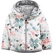 The North Face Infant Girls' Mossbud Swirl Full-Zip Reversible Hooded Jacket
