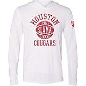 The Victory Men's Houston Cougars White 'Phi Slama Jama' Pullover Hooded Basketball T-Shirt