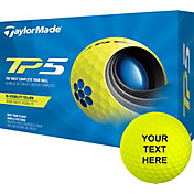 TaylorMade 2021 TP5 Yellow Personalized Golf Balls