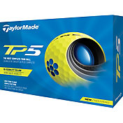 TaylorMade 2021 TP5 Yellow Golf Balls