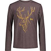 Under Armour Boys' Deer Mark Long Sleeve T-Shirt