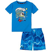 Under Armour Boys' Toddler Sound Waves Swimsuit Set