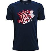 Under Armour Boys' Tech Glow Half Symbol T-Shirt