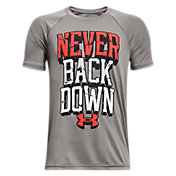 Under Armour Boys' Tech Never Back Down Graphic T-Shirt