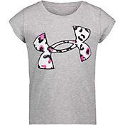 Under Armour Little Girls' Big Logo Cheetah Fill Graphic T-Shirt