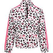 Under Armour Little Girls' Cheetah ¼ Zip Pullover