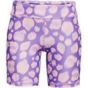 Under Armour Girls' HeatGear Printed Bike Shorts
