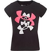 Under Armour Little Girls' Multi Logo Graphic T-Shirt