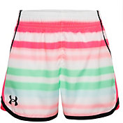 Under Armour Little Girls' Airbrush Stripe Two-Tone Fly-By Shorts