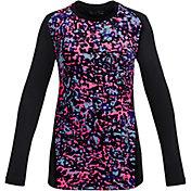 Under Armour Girls' ColdGear Novelty Long Sleeve Crewneck Shirt