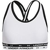 Under Armour Girls' HeatGear Solid Crossback Sports Bra