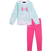 Under Armour Little Girls' Tie Dye Crewneck Sweatshirt and Leggings Set