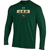 Under Armour Men's UAB Blazers Green Performance Cotton Long Sleeve T-Shirt