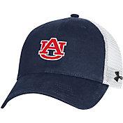 Under Armour Men's Auburn Tigers Blue Cotton Adjustable Trucker Hat