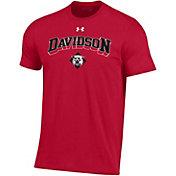 Under Armour Men's Davidson Wildcats Red Performance Cotton T-Shirt