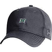 Under Armour Men's Hawai'i Warriors Black Performance 2.0 Adjustable Hat
