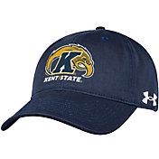 Under Armour Men's Kent State Golden Flashes Navy Blue Cotton Twill Adjustable Hat