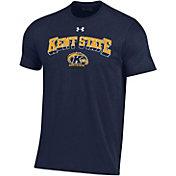 Under Armour Men's Kent State Golden Flashes Navy Blue Performance Cotton T-Shirt