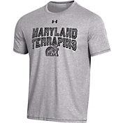 Under Armour Men's Maryland Terrapins Grey Bi-Blend Performance T-Shirt