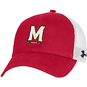 Under Armour Men's Maryland Terrapins Red Cotton Adjustable Trucker Hat