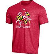 Under Armour Men's Maryland Terrapins Red 'Maryland Pride' Bi-Blend Performance T-Shirt