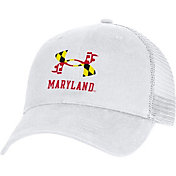 Under Armour Men's Maryland Terrapins White Washed Adjustable Trucker Hat