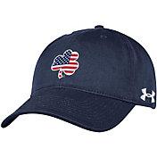 Under Armour Men's Notre Dame Fighting Irish Navy 'USA' Shamrock Adjustable Hat