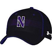 Under Armour Men's Northwestern Wildcats Black Iso Chill Adjustable Hat