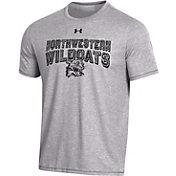 Under Armour Men's Northwestern Wildcats Grey Bi-Blend Performance T-Shirt