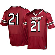Under Armour Men's South Carolina Gamecocks #21 Garnet Replica Football Jersey