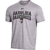 Under Armour Men's South Carolina Gamecocks Grey Bi-Blend Performance T-Shirt