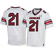 Under Armour Men's South Carolina Gamecocks #21 White Replica Football Jersey
