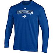 Under Armour Men's South Dakota State Jackrabbits Blue Performance Cotton Long Sleeve T-Shirt