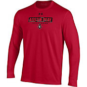 Under Armour Men's Austin Peay Governors Red Performance Cotton Long Sleeve T-Shirt