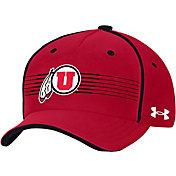Under Armour Men's Utah Utes Black Iso Chill Adjustable Hat