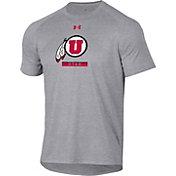 Under Armour Men's Utah Utes Grey Tech Performance T-Shirt