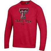 Under Armour Men's Texas Tech Red Raiders Red All Day Fleece Crew Sweatshirt