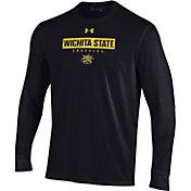 Under Armour Men's Wichita State Shockers Black Performance Cotton Long Sleeve T-Shirt